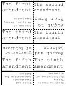 United States Bill Of Rights Flash Cards