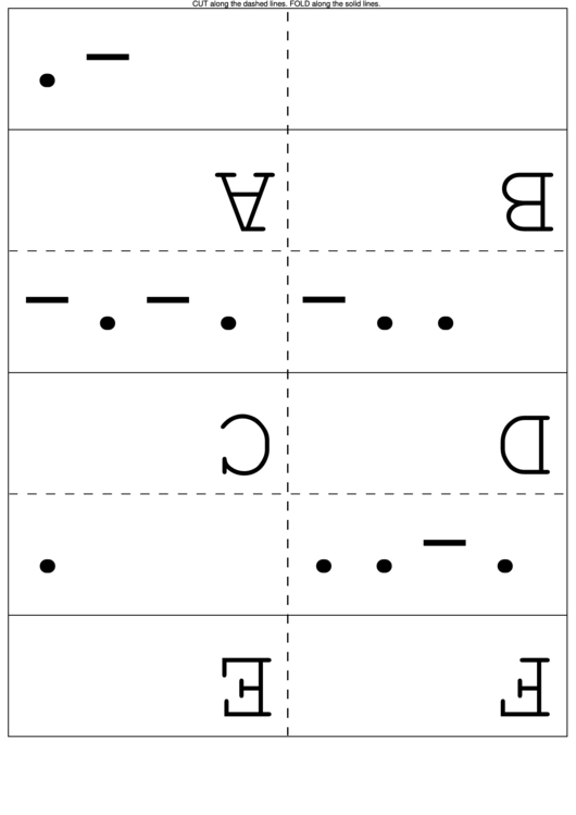 International Morse Code Flash Cards