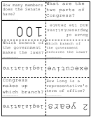 Branches Of U.s. Government Flash Cards