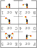 Semaphore Flags Flash Cards