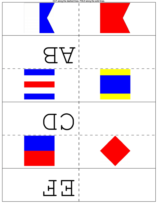 Maritime Flags Flash Cards