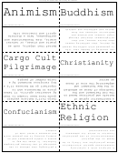 Major World Belief Systems Flash Cards
