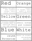 Underground Utility Color Codes Flash Cards