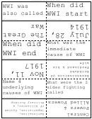 World War I Flash Cards