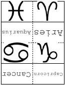 Astrology Symbols Flash Cards
