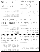 Treatment Of Shock Flash Cards