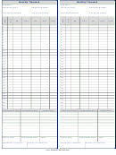 Monthly Timecard Template - Two Per Page