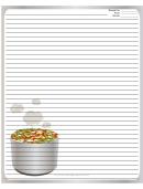Tasty Gray Recipe Card 8x10