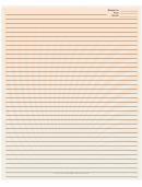 Orange White Spiral Recipe Card 8x10