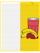 Yellow Banana Smoothie Recipe Card 8x10