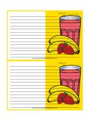 Yellow Banana Smoothie Recipe Card