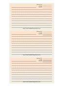 Orange White Spiral Recipe Card Template