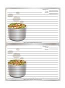 Tasty Gray Recipe Card