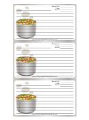 Tasty Gray Recipe Card Template