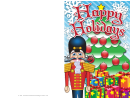 Happy Christmas Gifts Card Template