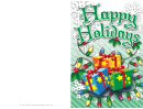 Christmas Gifts Card Template