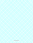 Crosshatch Paper Template - 0.4 Per Inch