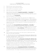 Governance Project Instructions - Guide Sheet For Completing The Project Check Sheet