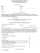 Election For Withholding Based On Gain - Rhode Island Division Of Taxation