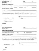 Form Dos-260 - Certificate Of Deposit
