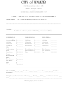 Application For Plan Examination And Building Permit - City Of Walker