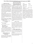 Estimated Tax Computation Worksheet - City Of Albion