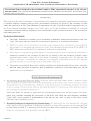 Form 814 - Application Form For Reinstatement After Involuntary Dissolution Or Revocation