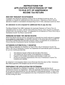 Instructions For Application For Extension Of Time To File City Of Hamtramck Income Tax Return - City Of Hamtramck's Income Tax Department