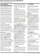 Instructions For Form Ftb 3801-cr Draft - Passive Activity Credit Limitations - 2015