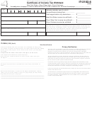 Form It-2102.6 - Certificate Of Income Tax Withheld