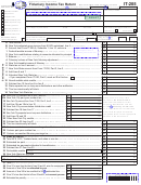 Form It-205 Draft - Fiduciary Income Tax Return - New York State Department Of Taxation