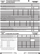 California Schedule B (100s) - S Corporation Depreciation And Amortization - 2012