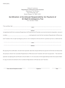 Form R-9010 - Certification Of Continued Responsibility For Payment Of Oil Spill Contingency Fee