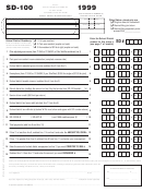 Form Sd-100 - School District Income Tax Return - 1999