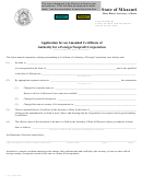 Form Corp.53b - Application For An Amended Certificate Of Authority For A Foreign Nonprofit Corporation