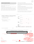 Form F-1120es - Change Of Address Or Business Name