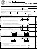 Form Sc 1040 - Individual Income Tax Return (1999) - South Carolina