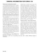 General Information For Form K-139