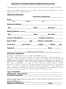 Application For Alabama Resident Disabled Fishing License
