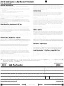 California Form 3522 - Llc Tax Voucher - 2016