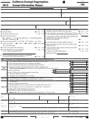 Form 199 - California Exempt Organization Annual Information Return - 2015