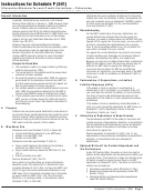 Instructions For Schedule P (541) - Alternative Minimum Tax And Credit Limitations - Fiduciaries - 1999