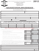Form T-204r-annual - Sales And Use Tax Return - Annual Reconciliation - 2012