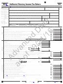 Form 541 Draft - California Fiduciary Income Tax Return - 2015