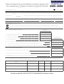 Form Ed-50 - Notice Of Property Tax And Certification Of Intent To Impose A Tax, Fee, Assessment Or Charge On Property For Education Districts - 2005-2006