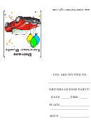You Are Invited To Drivers License Party - Party Invitation Template