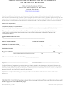 Application For Certificate Of Authority To Transact Business - Nebraska Secretary Of State