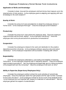 Employee Performance Review Form Instructions