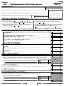 Form 541-a - Trust Accumulation Of Charitable Amounts - 1998