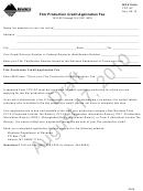 Montana Form Fpc-af Draft - Film Production Credit Application Fee